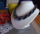 Crochet tube necklace Black Beauty english version