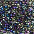 #07.8 50 Stück - 3,0 mm Glasschliffperlen - jet iris