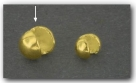 1 Stück Klappkugel ø 5 mm - 925 Silber vergoldet