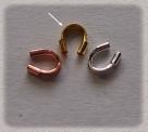 10 Stück Drahtschutz Wire Guard vergoldet