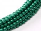 #96 1 Strang - 3,0 mm Glasperlen - green jade/paint coating