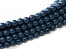 #18 1 Strang - 4,0 mm Glasperlen - baltic blue/paint coating
