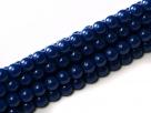 #97 1 Strang - 3,0 mm Glasperlen - royal blue/paint coating
