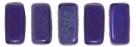 #32 - 50 Stück Two-Hole Bricks 3x6mm - Indigo - Matte Vega