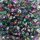 #99 10g SuperDuo-Beads Polychrome - Crystal - Marea Peacock/Gold
