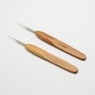 1 Stück Häkelnadel mit Bambusgriff 0,75 mm