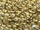 #49 - 50 Stück Lentils 6x2,5 mm crystal amber