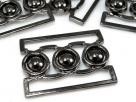 1 Gürtelschließe Metall black oxyd 55x35mm