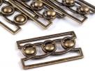 1 Gürtelschließe Metall antik bronze 55x35mm