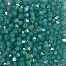 #30.1 25 Stück - 3,0 mm Crystal Bicone opak turquoise AB