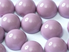 #18a - 1 Dome Bead 12x7mm - lilac paint coating