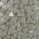#11 - 50 Stück Kheops Beads 6mm - White Hematit Coating