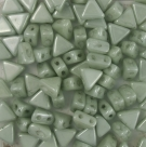 #13 - 50 Stück Kheops Beads 6mm - White Olivine Coating