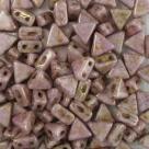 #18 - 50 Stück Kheops Beads 6mm - White Lila Gold Luster