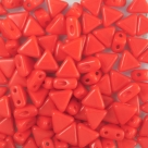 #25 - 50 Stück Kheops Beads 6mm - Opaque Coral Red