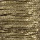 1 m Soutache 3mm - met. strukt. matte gold - 100% Viscose