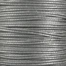 1 m Soutache 3mm - met. glatt antique silver - 100% Viscose