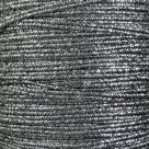 1 m Soutache 3mm - met. strukt. silver/black - 100% Viscose