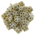 #04 10g QuadraTile-Beads 6mm - opaque white luster picasso