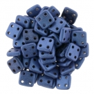 #06 10g QuadraTile-Beads 6mm - metallic suede - blue