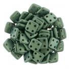 #07 10g QuadraTile-Beads 6mm - metallic suede - lt green