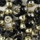 #05 25 Stck. Mushroom Beads 8mm jet amber