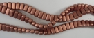 #35 - 50 Stück Two-Hole Bricks 3x6mm - matte copper