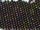 #13c - 50 Stück Perlen rund - jet purple iris - Ø 3 mm