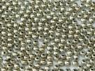 #13f - 50 Stück Perlen rund - jet argentic full - Ø 3 mm