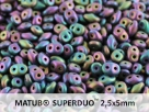 #007b 10g SuperDuo-Beads jet matted purple iris