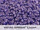 #015b 10g SuperDuo-Beads sapphire lila vega luster
