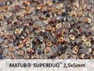 #005a 10g SuperDuo-Beads black diamond semi bronze luster