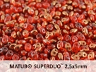 #008a 10g SuperDuo-Beads hyacinth semi bronze luster