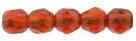 #20 50 Stück - 2,0 mm Glasschliffperlen - Siam Ruby