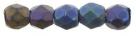 #23 50 Stück - 2,0 mm Glasschliffperlen - Jet Matte Iris Blue