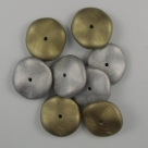 03.1 - 10 Stück Preciosa® Ripple™ (12mm) california silver matt
