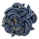 #02.00 5g Crescent-Beads 10x3 mm - Matte Iris Blue
