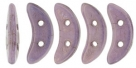 #09.00 5g Crescent-Beads 10x3 mm - Alabaster LusterLilac