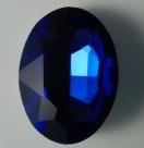 1 Glas-Oval Ø 30x20x8 mm - dk sapphire