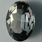 1 Glas-Oval Ø 30x20x8 mm - black diamond