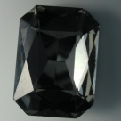 1 Glas-Rechteck Ø 27x18x4 mm - black diamond