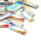 1 Glas-Baguette Ø 30x10x5 mm - crystal AB