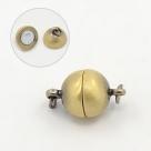1 Kugel-Magnet-Verschluss Ø 10x17 mm Antique Bronze mattiert