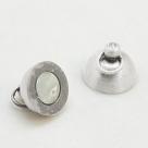 1 Kugel-Magnet-Verschluss Ø 10x17 mm Nickel mattiert