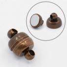 1 Kugel-Magnet-Verschluss Ø 11x7 mm Red Copper