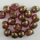 #08 20 Stck. Mushroom Beads 8mm tr. pink goldluster