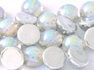 #05b - 1 Dome Bead 10x6mm - crystal silver rainbow