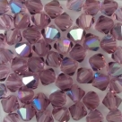 #06 25 Stück - 6,0 mm Crystal Bicone amethyst AB