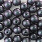 #30 25 Stück Perlen rund - Ø 8mm Polychrome-Orchid Aqua