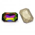 1 Glas-Rechteck Ø 27x18x4 mm - crystal vitrail med